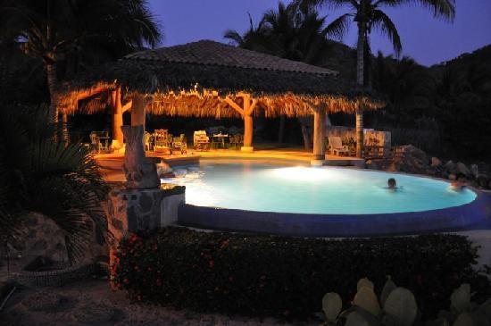 Casa Manzanillo: The pool at night