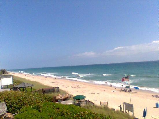Jensen Beach, Floride : Beachfront balcony view