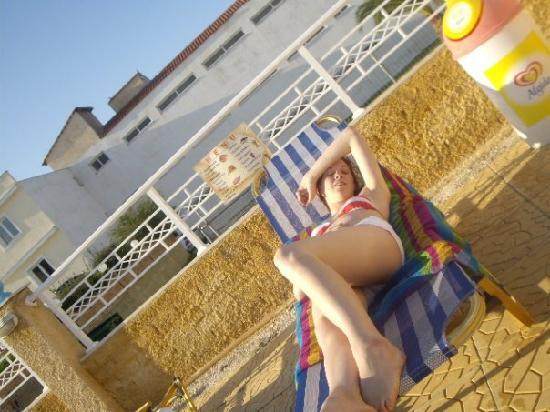 Sorrento Studios: Me on the sunbed