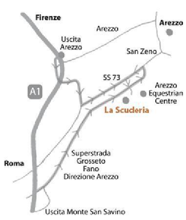 La Scuderia B&B: Map