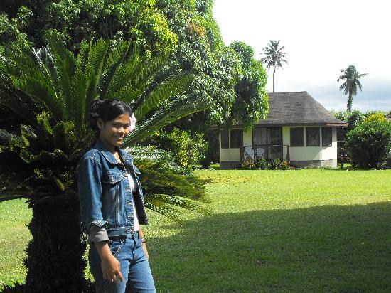 The Savaiian Hotel: outside the garden room