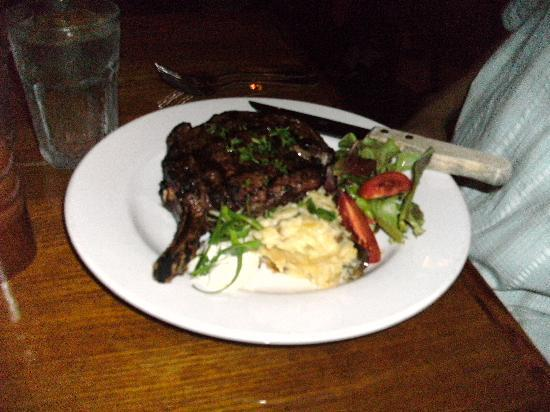Cyprus: the ribeye was HUGE and delicious