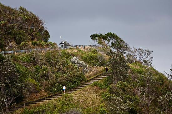 Watermark at Wategos : View from balcony to Headland