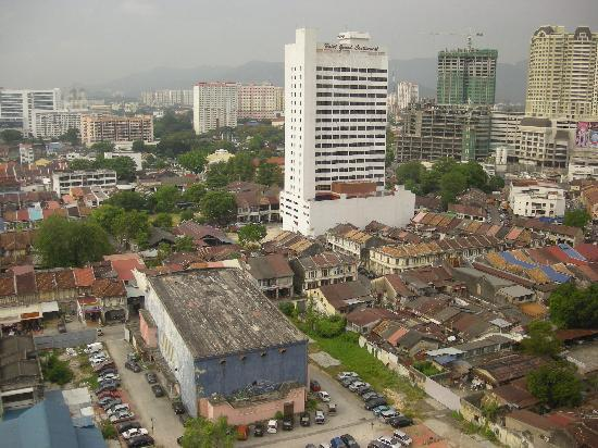 Hotel Jen Penang by Shangri-La: Aerial view from Traders Hotel Lounge