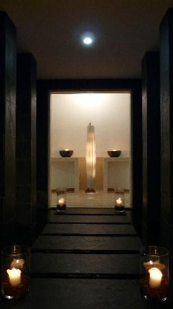 Das Kranzbach: Spa, Durchgang zum Wartezimmer