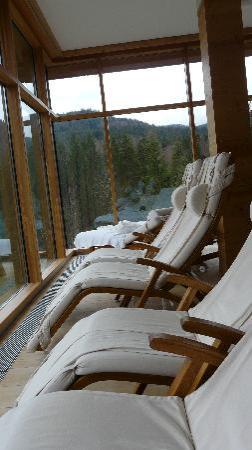 Hotel das Kranzbach: Ruheraum des Saunabereichs