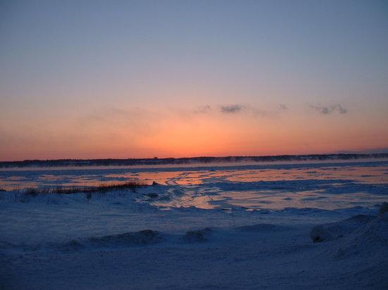 Sainte-Anne-de-la-Pérade, Kanada: Coucher de soleil hivernal