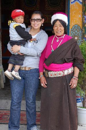 Zhuo Ma's Jiuzhaigou Home Stay: Me and Grandma and Grandson