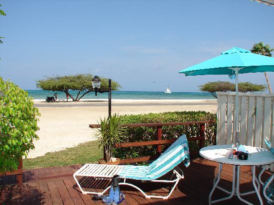 Malmok Beach, Aruba: Villa Deck
