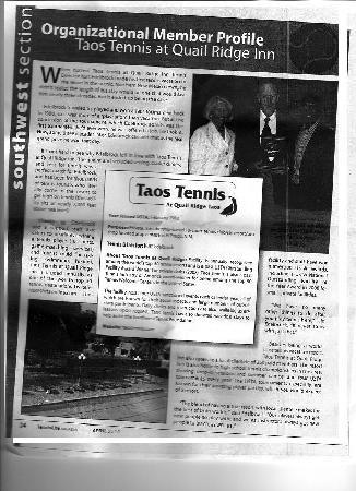 Quail Ridge Taos: A Condo Resort: TennisLife Magazine April 2010
