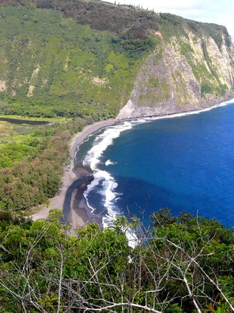 Île d'Hawaï, Hawaï : Waipio on the way down