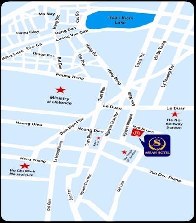 Asean Hotel: Hotel Map