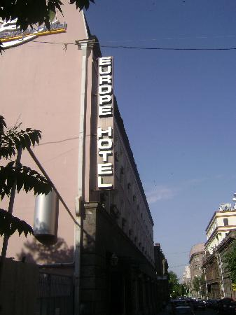 the entrance of Europe hotel