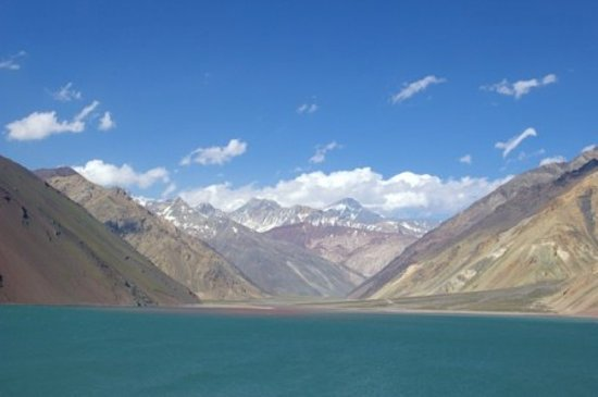 Región de O' Higgins, Chile: Vista del Embalse El Yeso