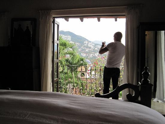 Hacienda San Angel : hey someone took a picture of me taking a picture of our other view from the amazing room
