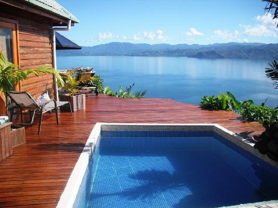 Naveria Heights Lodge: Tree top plunge pool