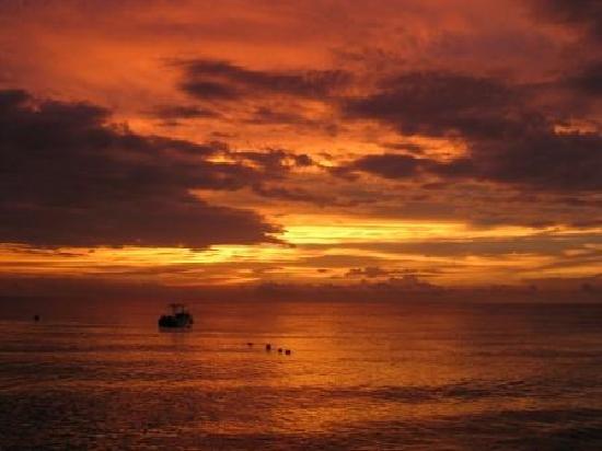Octopus Garden Hotel & Dive Resort: Sunset View