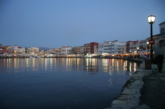 Kreta, Grekland: The harbour at Chania