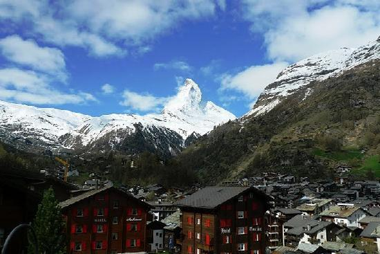 View of Mt.Matterhorn from our Hotel Bristol room