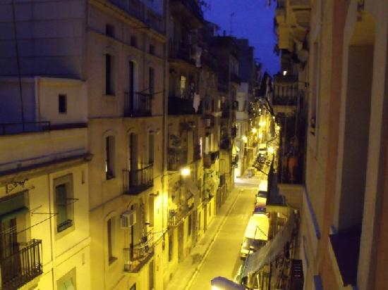 Freestanza Accommodation : View from the balcony at night