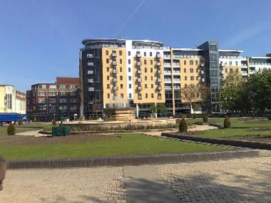 Queens Gardens and BBC