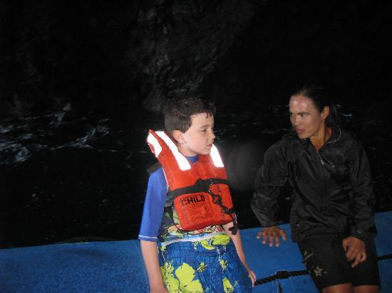 North Shore Private Charters: Stephani tells Ray about Pirate Treasure.