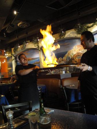 Opa! Greek Cuisine and Fun: Saganaki