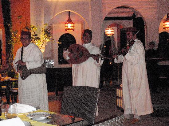 La Mamounia Marrakech: Music during dinner