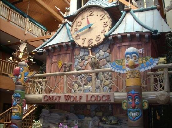 Lobby Picture Of Great Wolf Lodge Wisconsin Dells