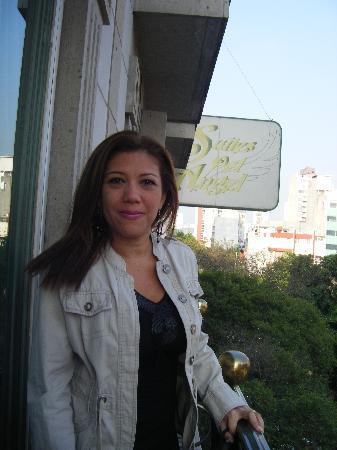 Suites Del Angel: en el balcon de la habitacion