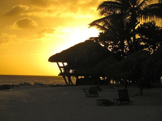 Tamarijn Aruba All Inclusive : Bunker Bar At Sunset