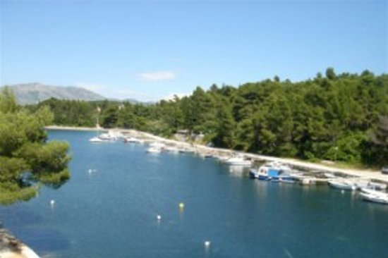 Korcula Waterfront Accommodation: View from waterfront apartment balcony