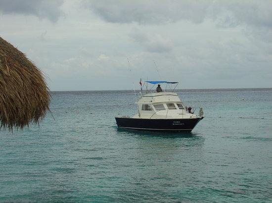 One of many boats in Scuba Du's fleet