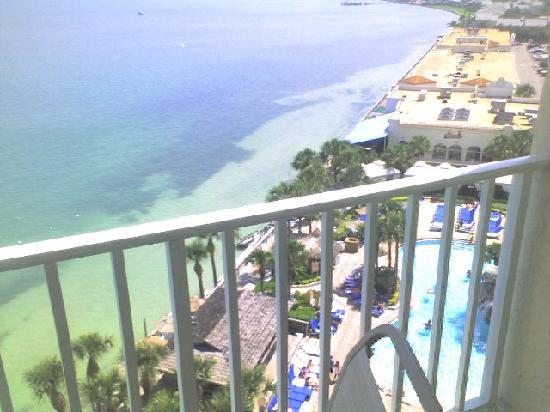 Clearwater Beach Marriott Suites on Sand Key: view from deck,