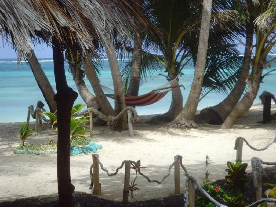 Little Corn Beach and Bungalow: Relax in a hammock outside your cabana and gaze at the Caribbean