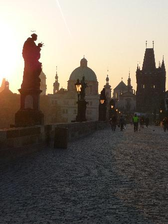 Archibald At the Charles Bridge: literally 2mins from the charles bridge - 7am photo!