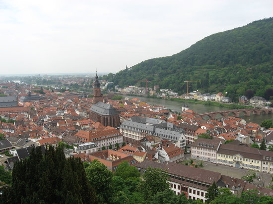 "Heidelberg, Tyskland: The view from the ""balcony"""