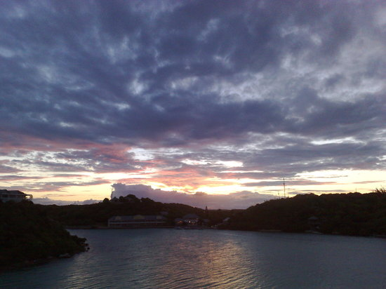 Saint Philip, Antigua: sky over bay
