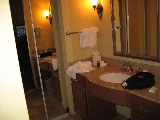 Homewood Suites by Hilton Champaign-Urbana: Bathroom vanity and closet