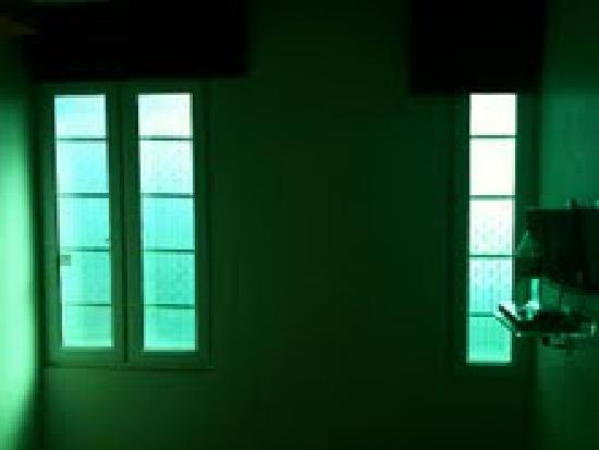 Hotel 81 Rochor : Aww, nothing says romance like green windows!