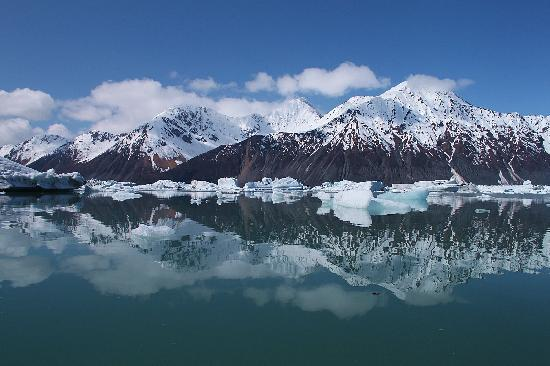 Seward, Αλάσκα: View in the lagoon at Bear Glacier