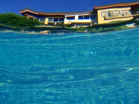 Amarela Resort: underwater shot from the swimming pool