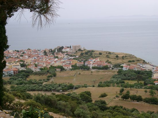 Pythagorion, Greece: View for town from monastery
