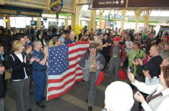Honor flight arrivals