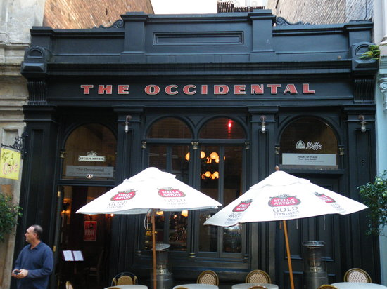 The Occidental Belgian Beer Cafe : Tucked away on a side street off of Queen Street