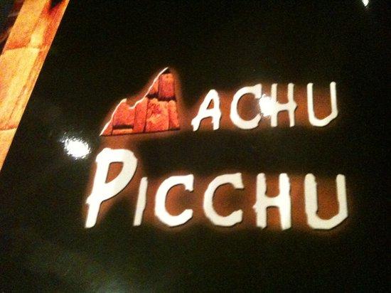 Machu Picchu: Menu