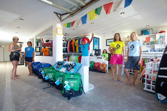 Laurel Eastman Kiteboarding (LEK): Inside the old LEK shop