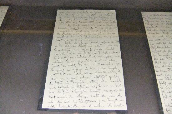 Franz-Kafka-Museum: Handwriting display of Kafka