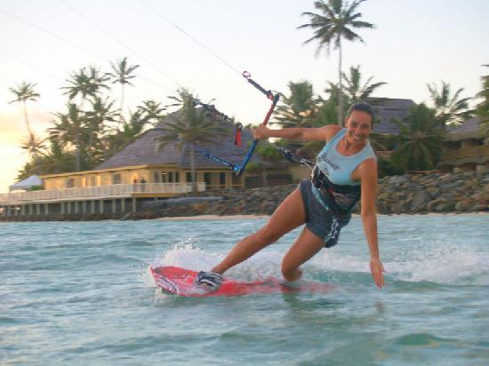 LEK Rarotonga : Kitingsurfing at The Rarotongan Beach Resort and Spa