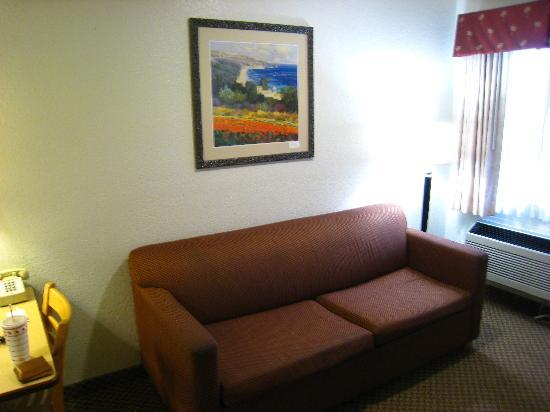 Ramada Carlsbad : Living Room (w/ worn sofa)